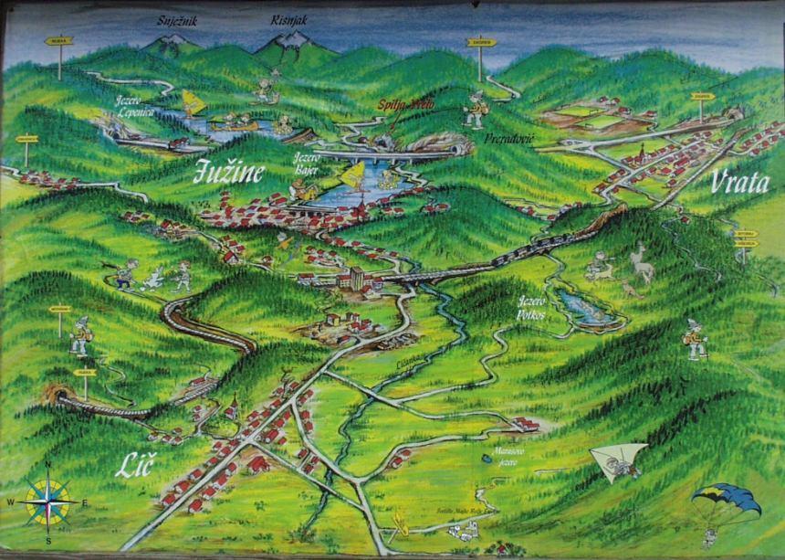 Karta Turisticka Zajednica Opcine Fuzine